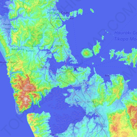 Auckland topographic map, relief map, elevations map on islamabad map, tasmania map, christchurch map, australia map, brisbane map, fiji map, cook strait map, southern alps map, jakarta on map, hong kong map, omc map, temuka map, north island map, sydney on map, micronesia map, wellington map, perth map, new south wales map, darwin map, melbourne map,